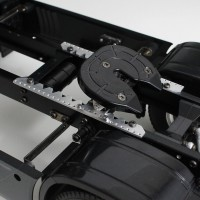 Sliding fifth wheel structure for Tamiya 113mm T1
