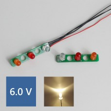SK/1838/1850L PCB Rear lights (Warm LED) 6.0V