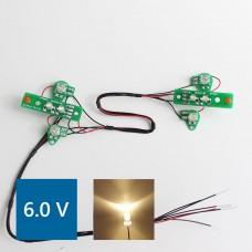 Volvo FH12 PCB Front lights (Warm LED) 6.0V