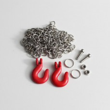 Chain with hooks (red)