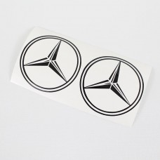 Mercedes side logo for truck (black)