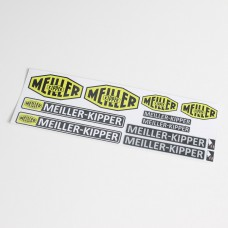 Meiller sticker sheet for 1/14.5 - 1/16 decoration (15 x 5 cm)