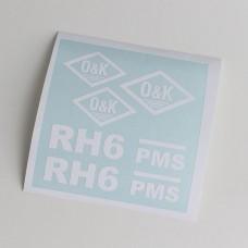 O&K RH6 PMS Adhesive vinyl (white)