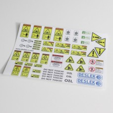 Construction machinery sticker sheet A model (10 x 7 cm)