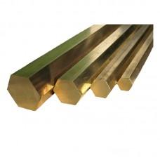 Hex brass bar 12x200mm